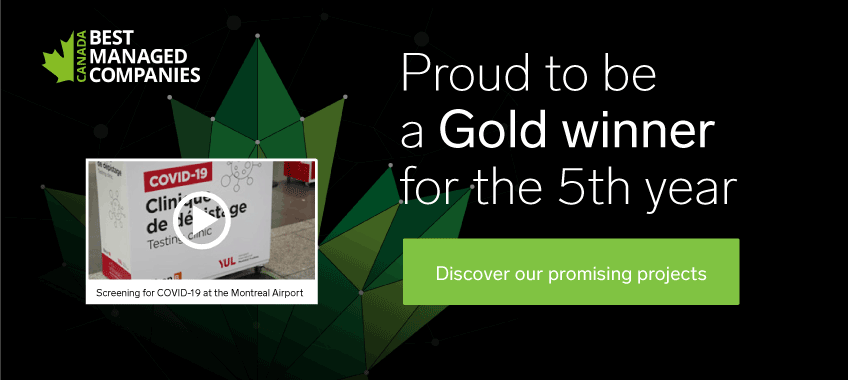 Proud to be a Gold winner for the 5th year in the best managed companies of Canada
