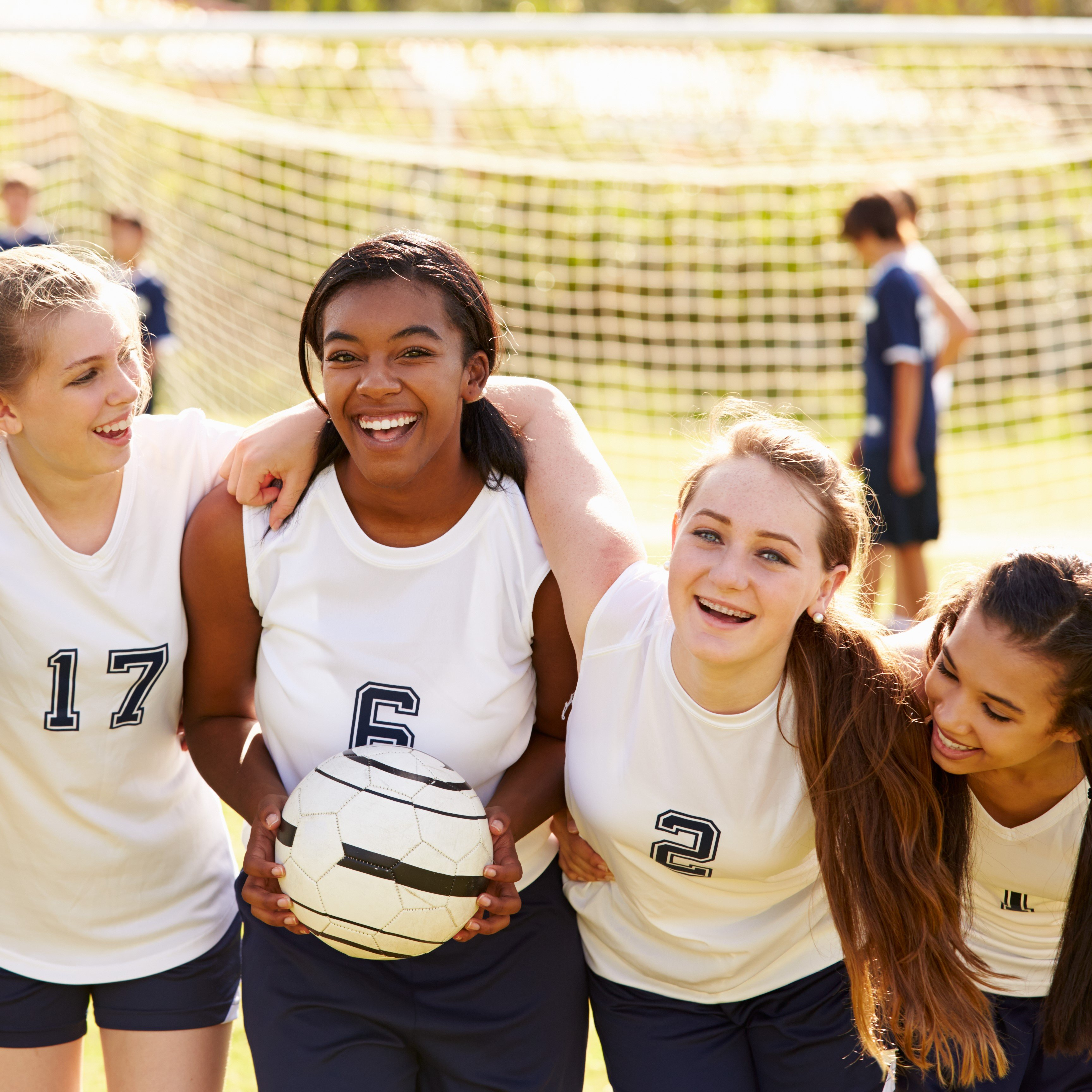 Puberty - Young girls' soccer team